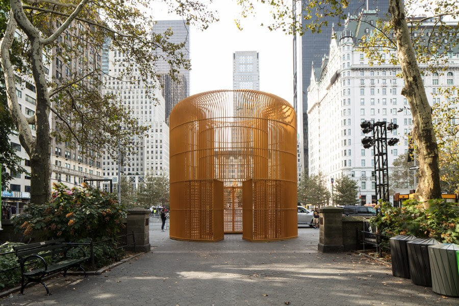 """Weiwei - """"Good Fences Make Good Neighbors"""" Gilded Cage - Central Park"""